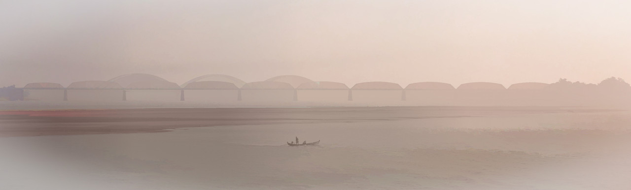 '064 - Day 5 Ayeyarwady River - A serene view of Ava Bridge,' by Neville Wootton on Flickr