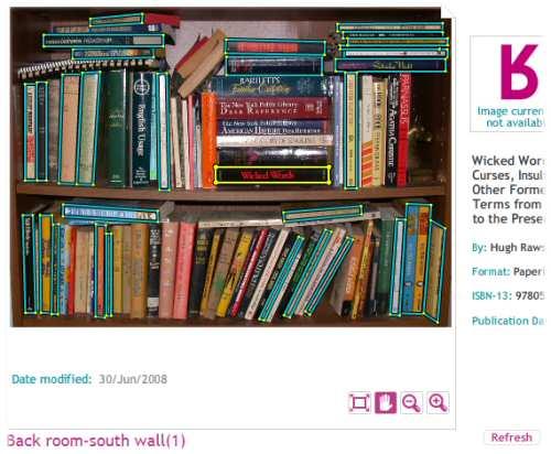 Bookshelf, back room, south wall