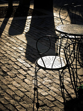 Cafe Shadows (by Trev Stair on Flickr)