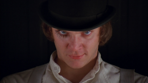 Malcolm McDowell, in 'A Clockwork Orange'