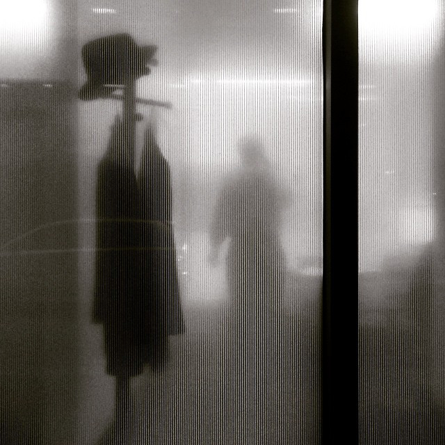Image: 'Closing Time, Office, Coat Rack, Timeless B&W,' by Lynn Friedman on Flickr