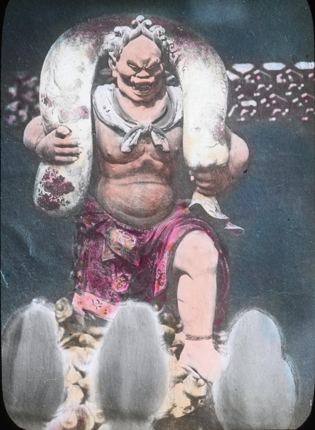 Lantern slide: Japanese god of wind, Fujin