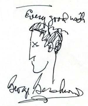 Gershwin - signature/inscription