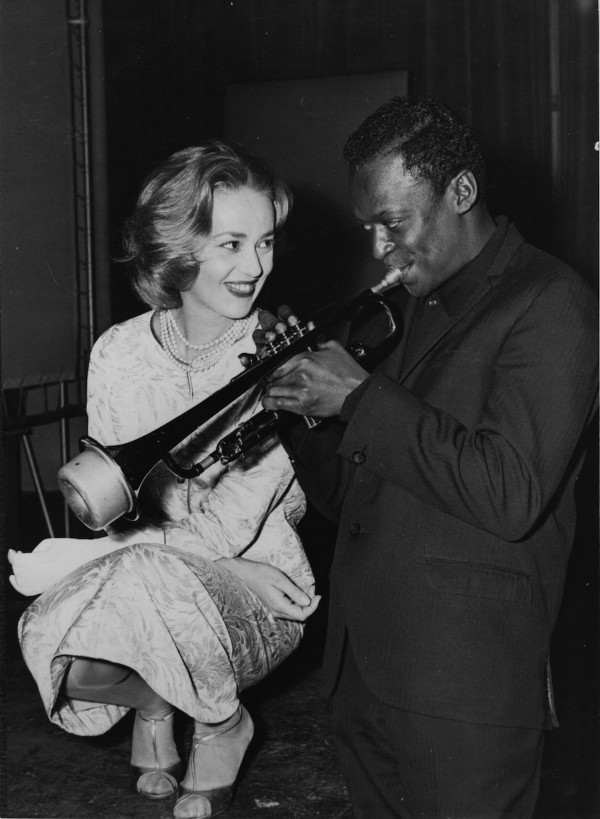 Jeanne Moreau and Miles Davis