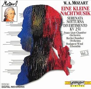 Album cover: LaserLight recording (1990), Mozart 'Eine Kleine Nachtmusik, (etc.)'