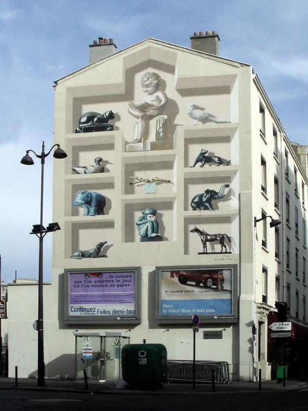 'Le Bestiaire,' a mural by de Renty and de la Nouvelle (1996)