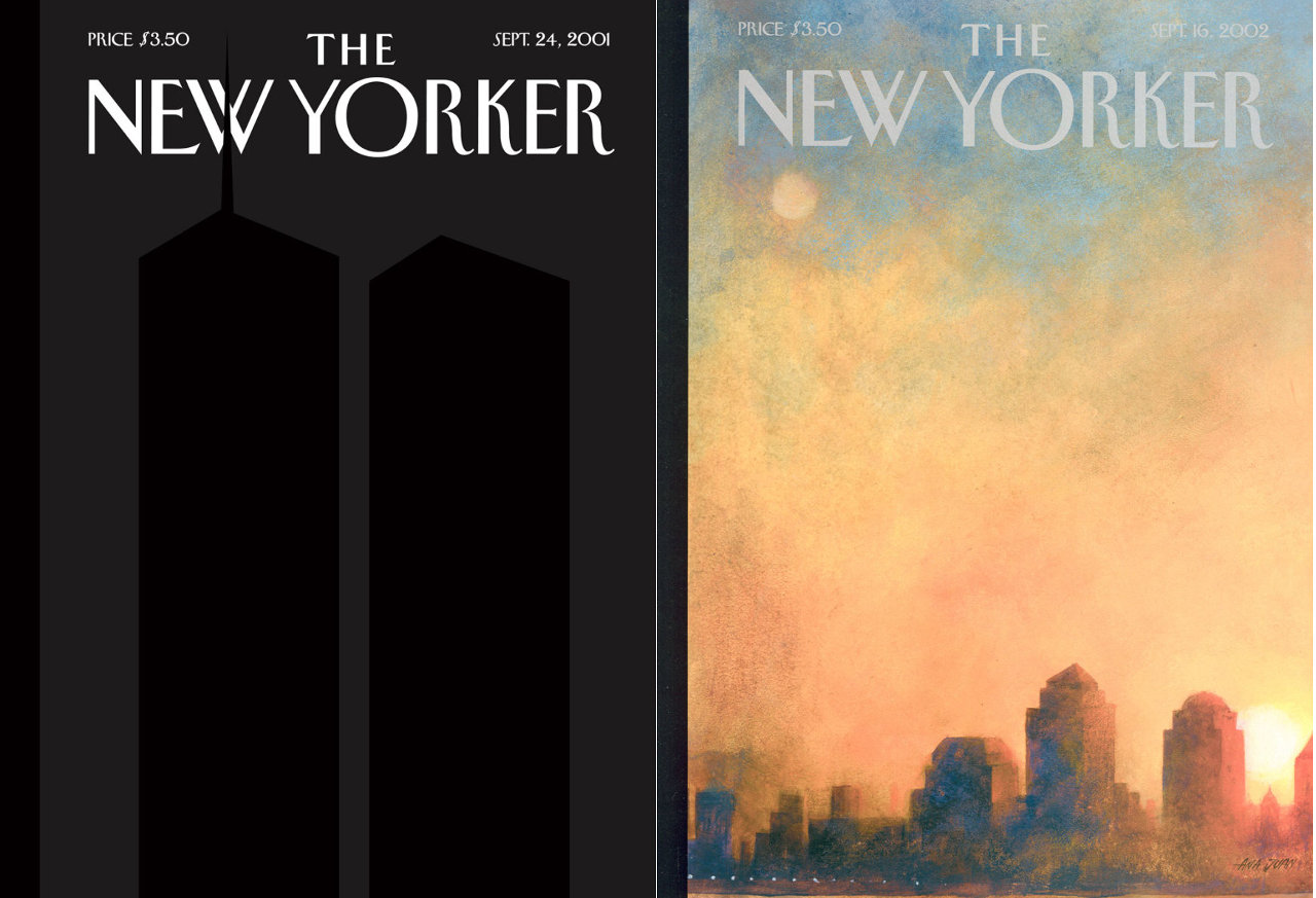 'New Yorker' magazine covers (2001-09-24 and 2002-09-16), by Art Spiegelman and Ana Juan