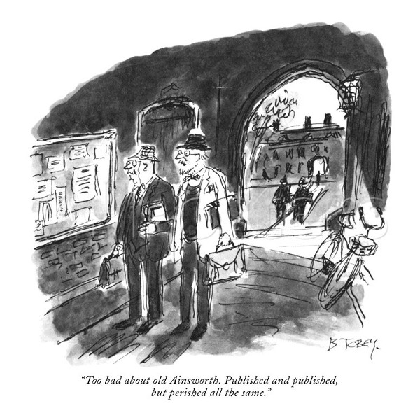 'Too bad about old Ainsworth,' by Barney Tobey in the New Yorker