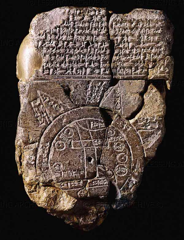 Oldest known world map: Mesopotamia/Babylon, 700-500 BCE