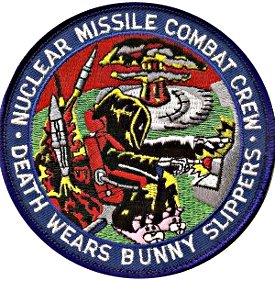 Death Wears Bunny Slippers: nuclear missile launch crew sleeve patch