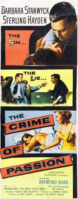 Poster: The Sin... The Lie... The CRIME OF PASSION