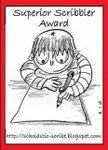 Image: Superior Scribbler Award badge