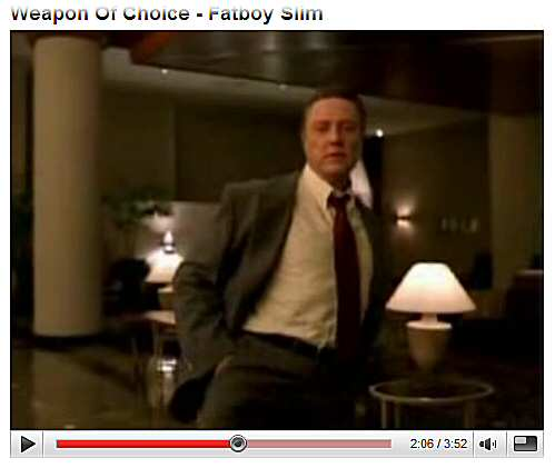 'Weapon of Choice' video screen capture