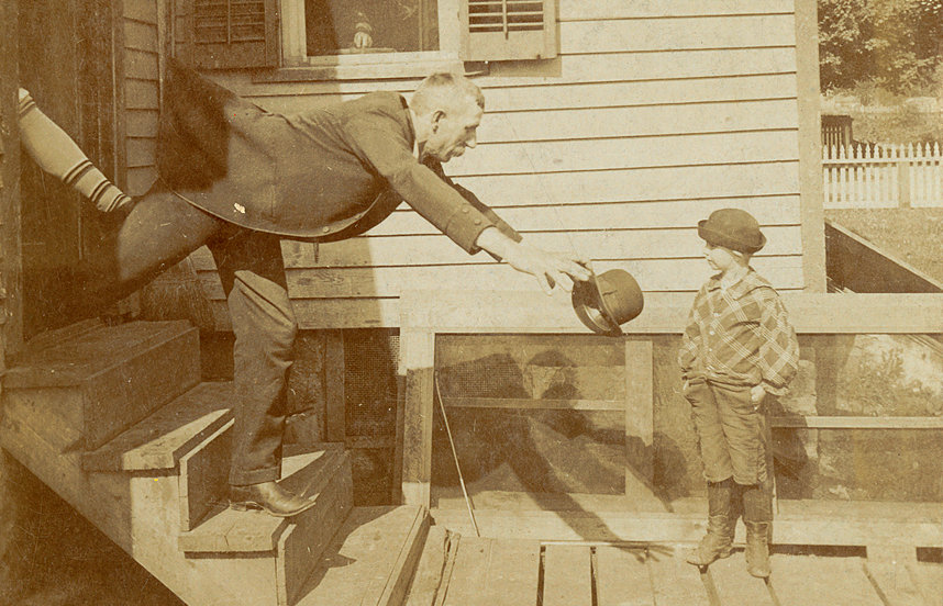 'What's the matter, Dad?': one half of an old stereograph