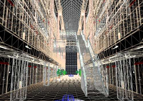 Wireframe street/building scene (click to enlarge)