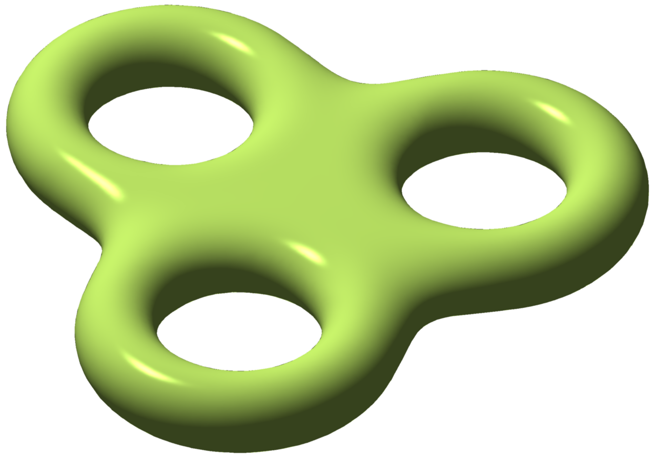 one view of a triple torus