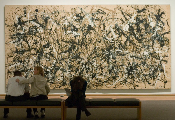 'Autumn Rhythm (Number 30) :: 1950 :: Jackson Pollock'