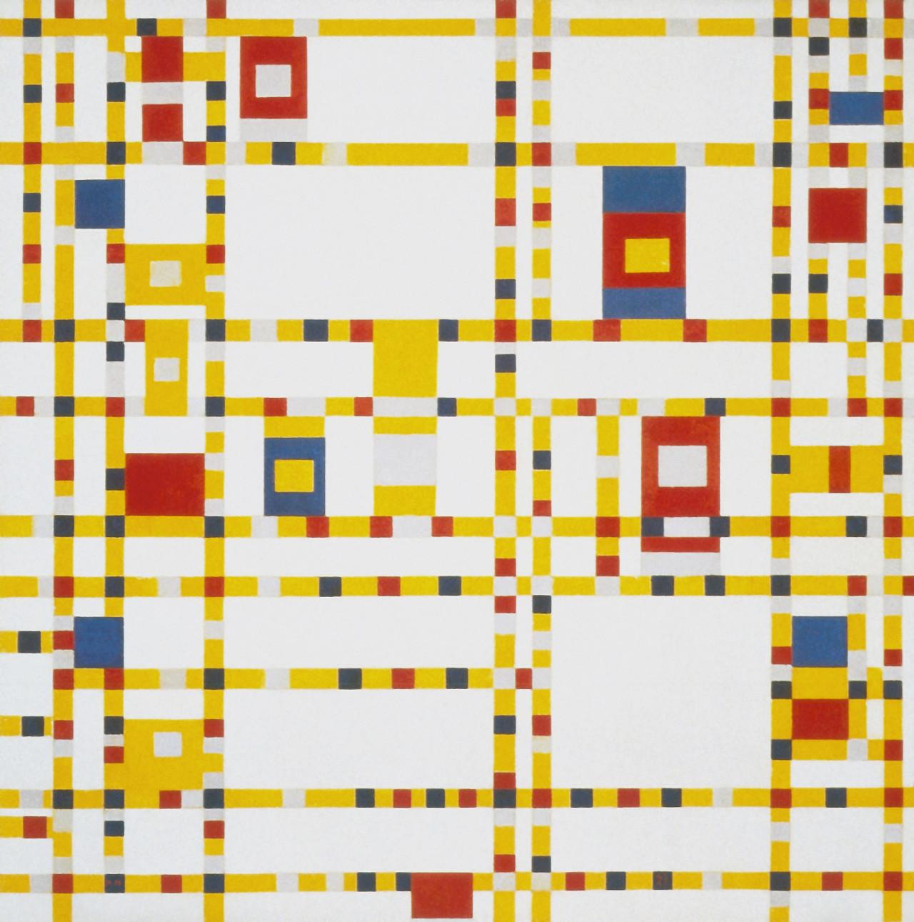 'Broadway Boogie-Woogie,' by Piet Mondrian: oil on canvas (1943)
