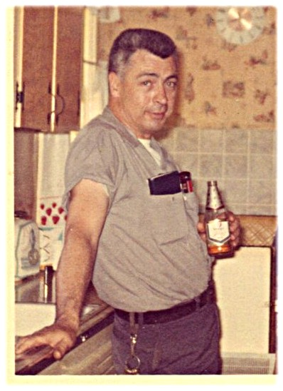 Dad, 1969 (that's NOT a Bud he's drinking, though)