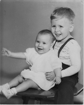 The perhaps non-musical sister and The Boy, early 1954