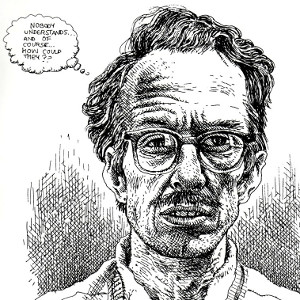 R. Crumb (self-portrait) (click to enlarge)