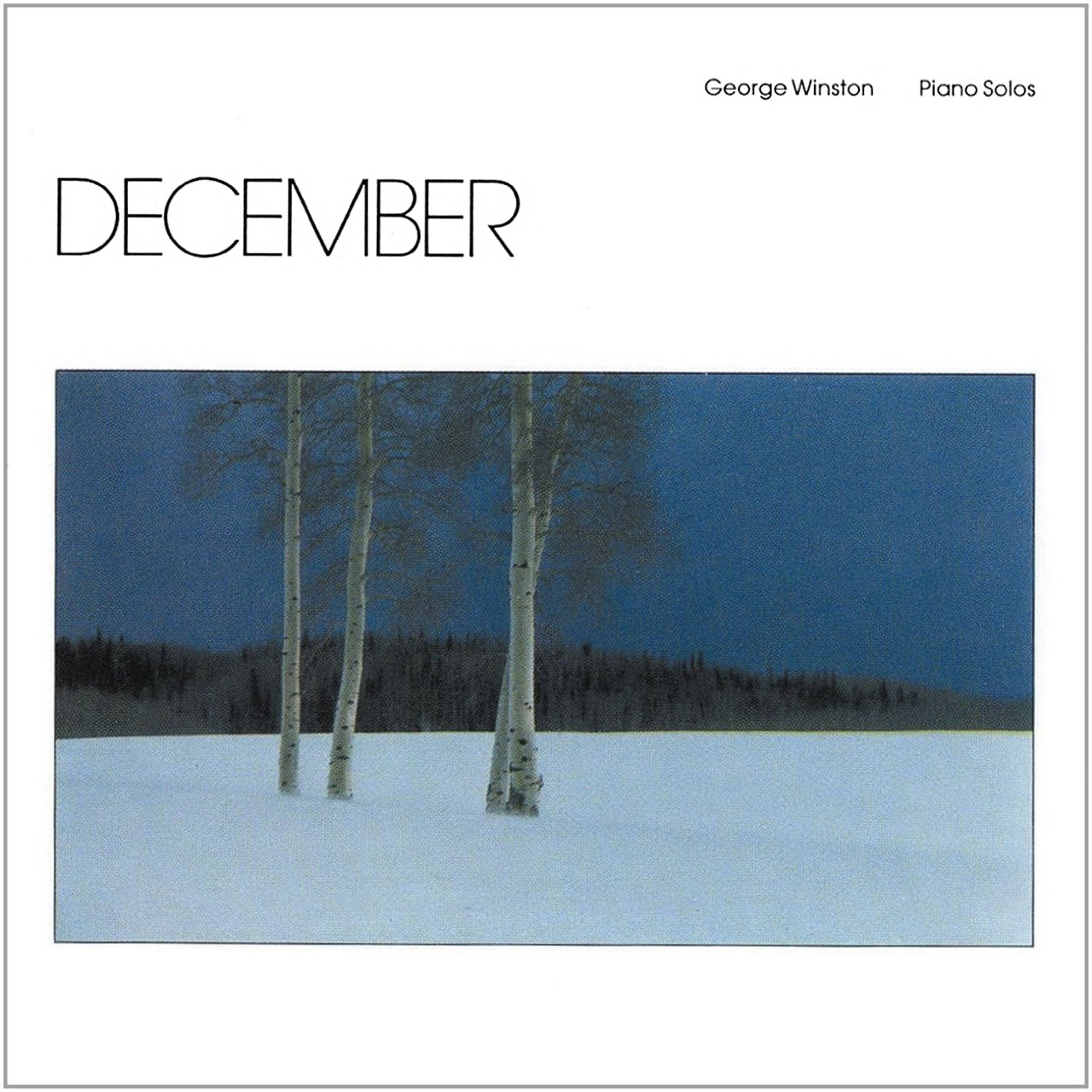 Cover: 'December,' by George Winston
