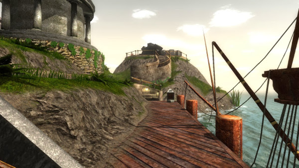 Opening scene from Myst ('realMyst Masterpiece Edition')