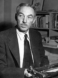 E.B. White, bemused to find himself here