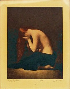 Jean-Jacques Henner: 'Weeping [a/k/a Penitent, Repentant, etc.] Magdalene'