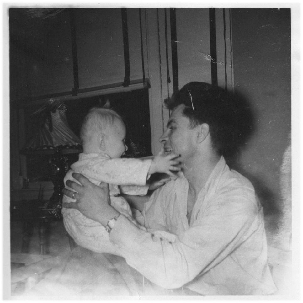 Image: circa 1952, JES + Dad