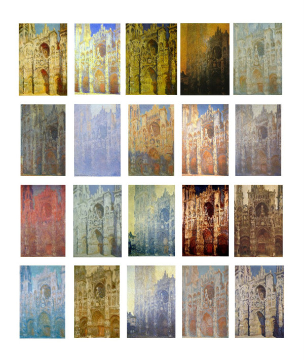 Monet: twelve images from his 'Rouen Cathedral' series