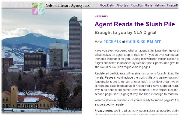 Nelson Literary Agency: Agent Reads the Slush Pile