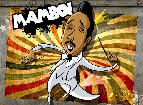 Perez Prado, per Mexican cartoonist Saul Herrera, a/k/a 'Qucho'